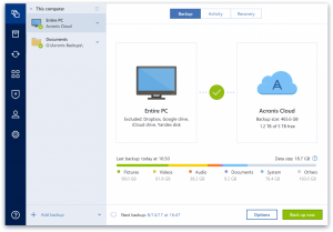 acronis true image 2018 cloud backup
